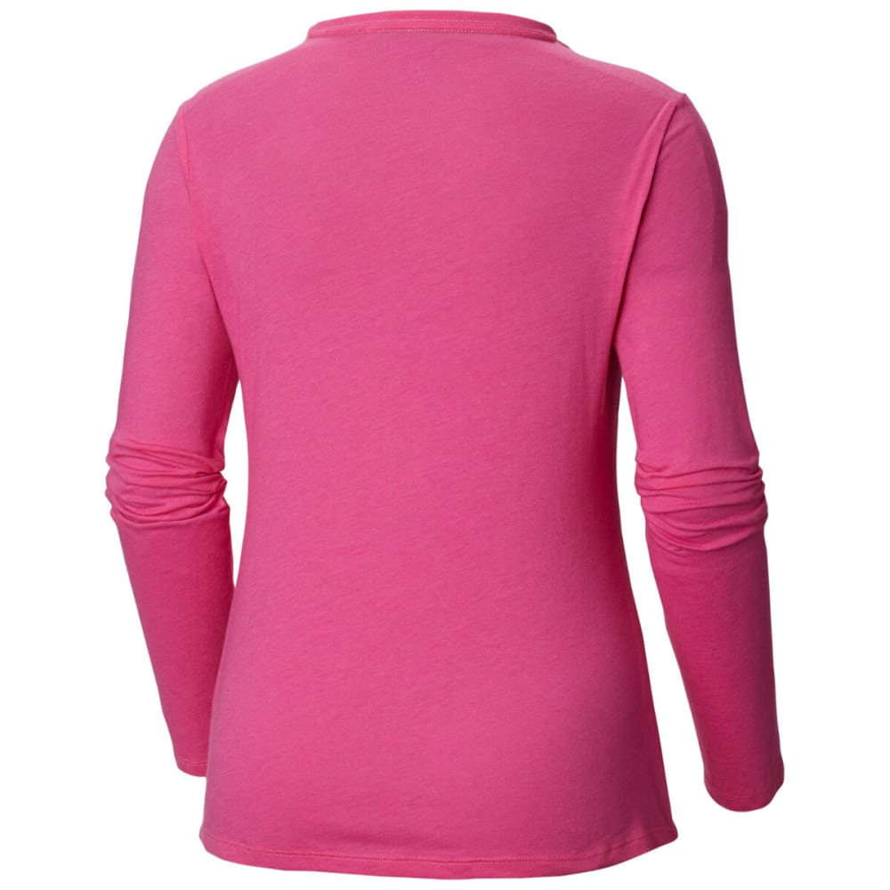 COLUMBIA Women's Tested Tough In Pink Long-Sleeve Tee - PINK ICE - 695