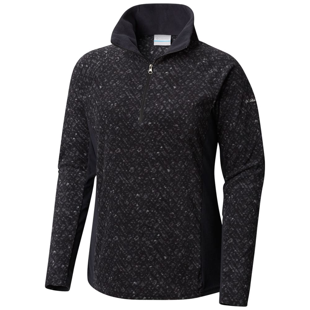 "COLUMBIA Women's Glacial""¢ IV Print 1/2-Zip Pullover - BLACK-010"