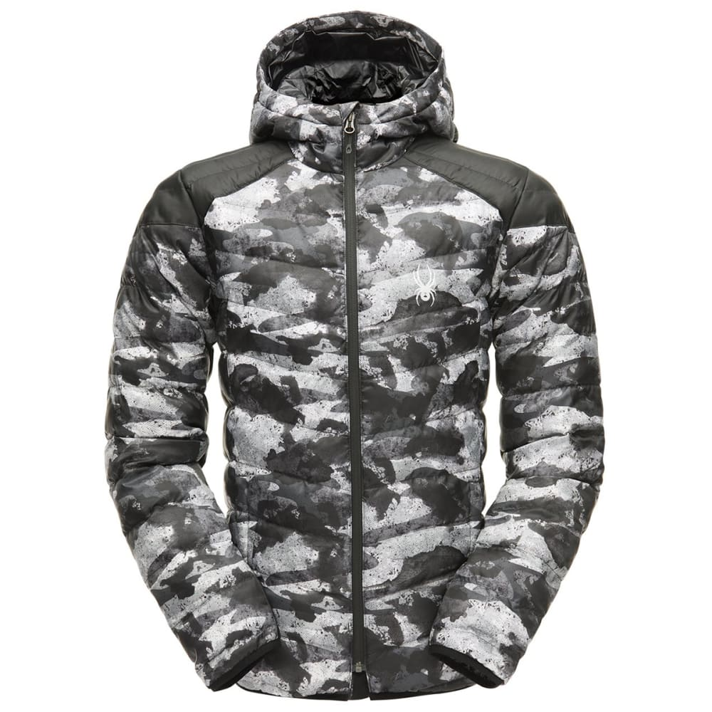 SPYDER Men's Geared Hoody Synthetic Down Jacket - CAMODISTRESS-026