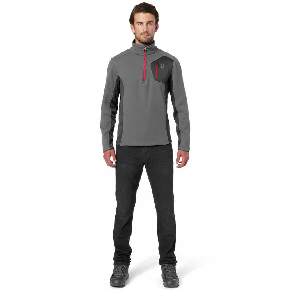 SPYDER Men's Bandit Half-Zip Stryke Jacket - POLAR-069