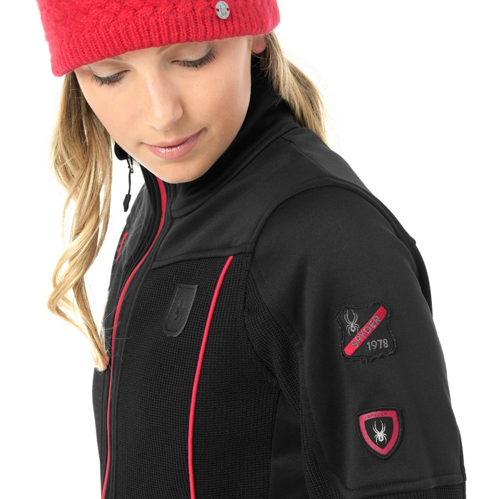 SPYDER Women's Wengen Full-Zip Stryke Jacket - BLACK