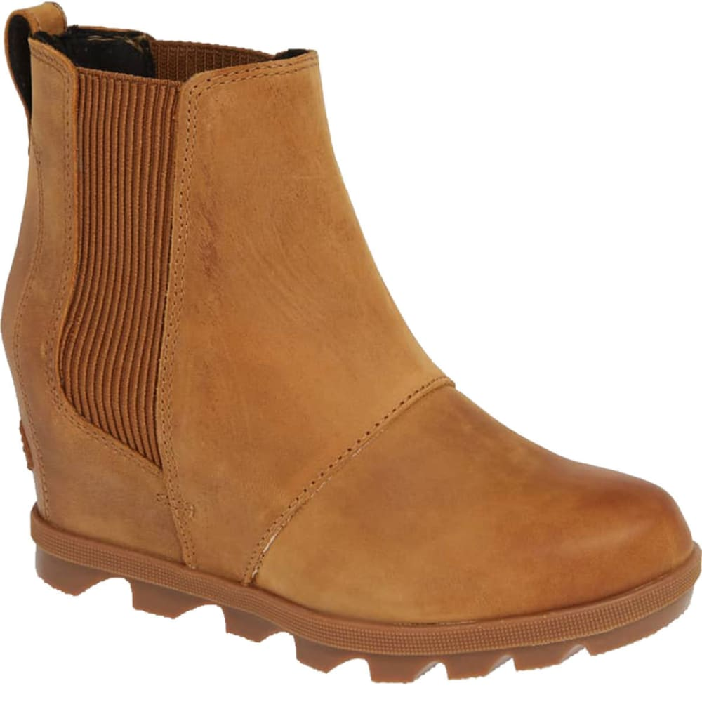 SOREL Women's Joan of Arctic??? Wedge Waterproof Chelsea Boots - CAMEL BROWN-224