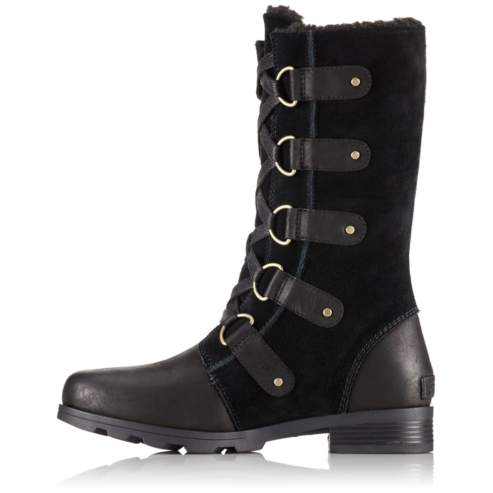 SOREL Women's Emelie Lace Waterproof Boots - BLACK -010