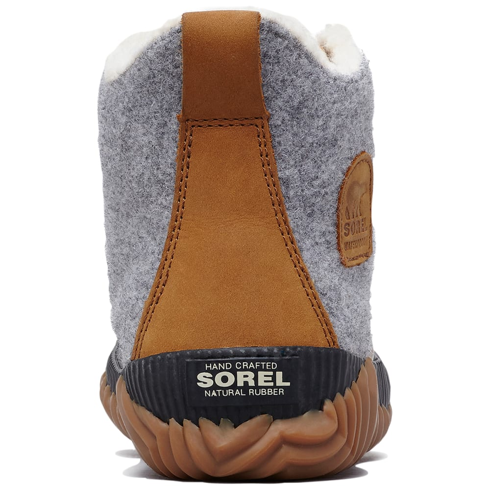 SOREL Women's Out 'N About Plus Felt Waterproof Duck Boots - QUARRY -052