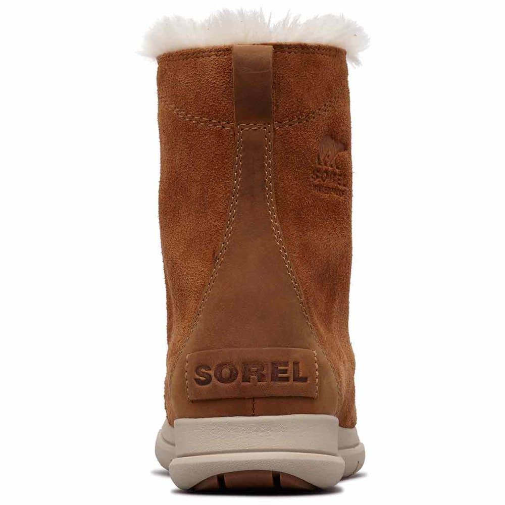 SOREL Women's Explorer Joan Waterproof Insulated Mid Storm Boots - CAMEL BROWN -224
