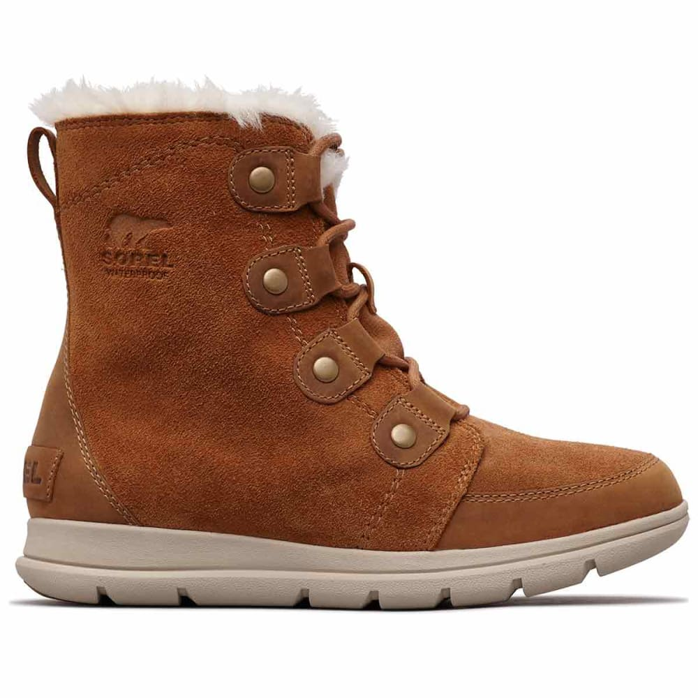 SOREL Women's Explorer Joan Waterproof Insulated Mid Storm Boots - CAMEL BROWN -224