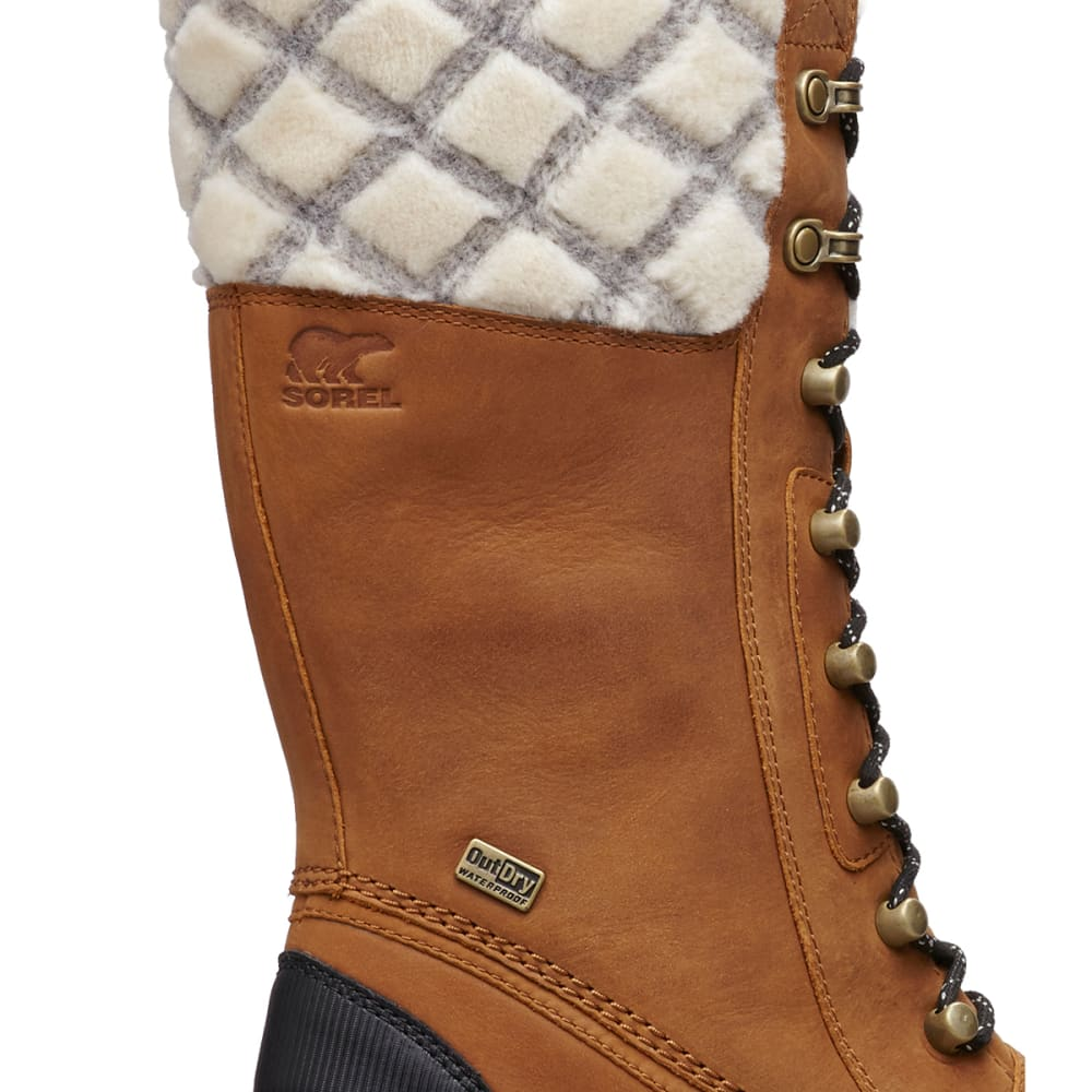 SOREL Women's Whistler Tall Waterproof Insulated Storm Boots - CAMEL BROWN -224
