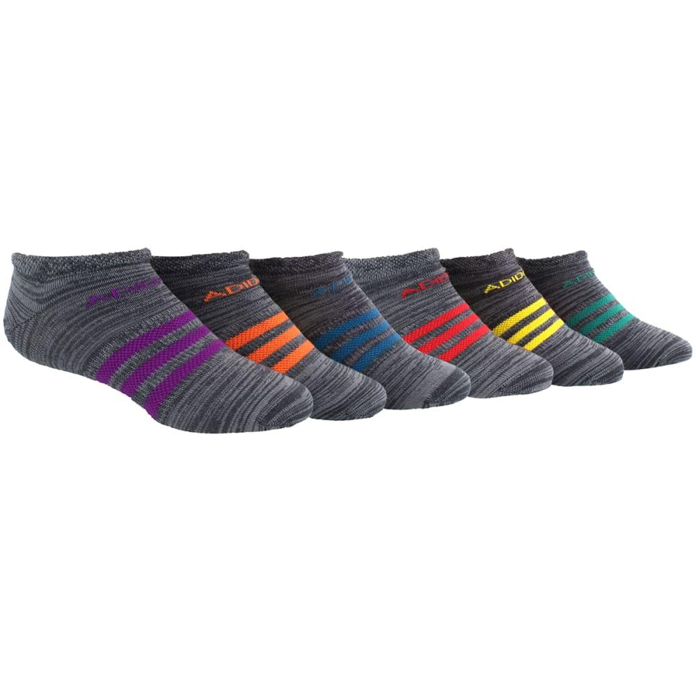 ADIDAS Girls' Climalite Superlite No-Show Socks, 6-Pack M