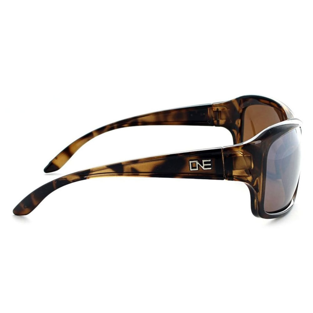 ONE BY OPTIC NERVE Women's Tempo Polarized Sunglasses - SHINY BROWN DEMI