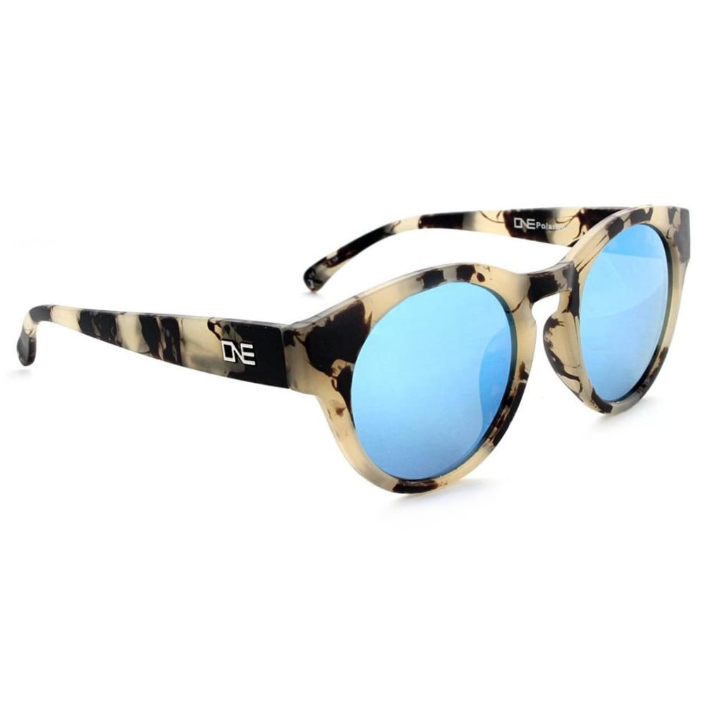 ONE BY OPTIC NERVE Women's Rizzo Polarized Sunglasses - MATTE BEIGE MARBLE
