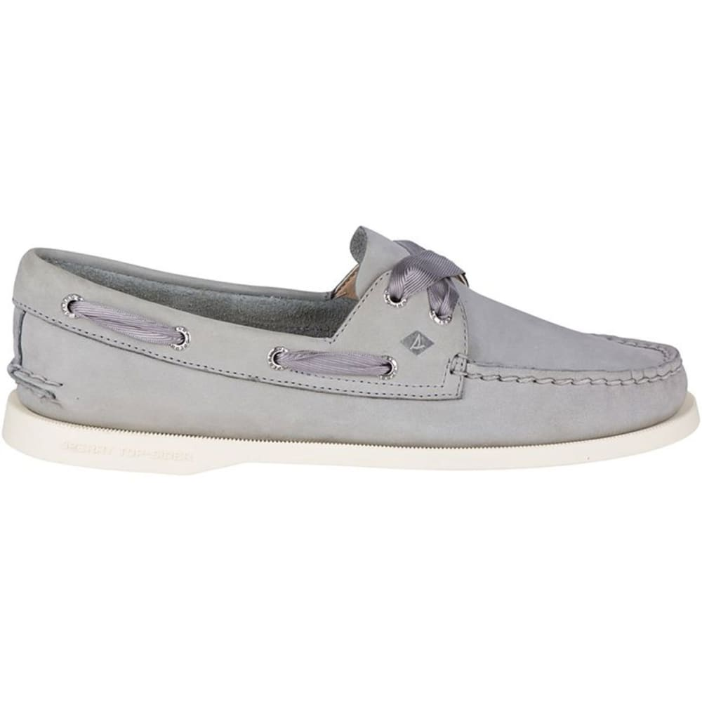 4ededc1e7bf8 ... SPERRY Women  39 s Authentic Original Satin Lace Boat Shoes - GREY