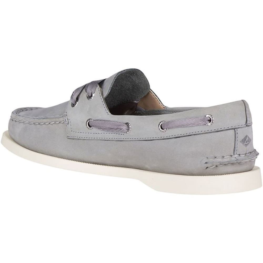 SPERRY Women's Authentic Original Satin Lace Boat Shoes - GREY
