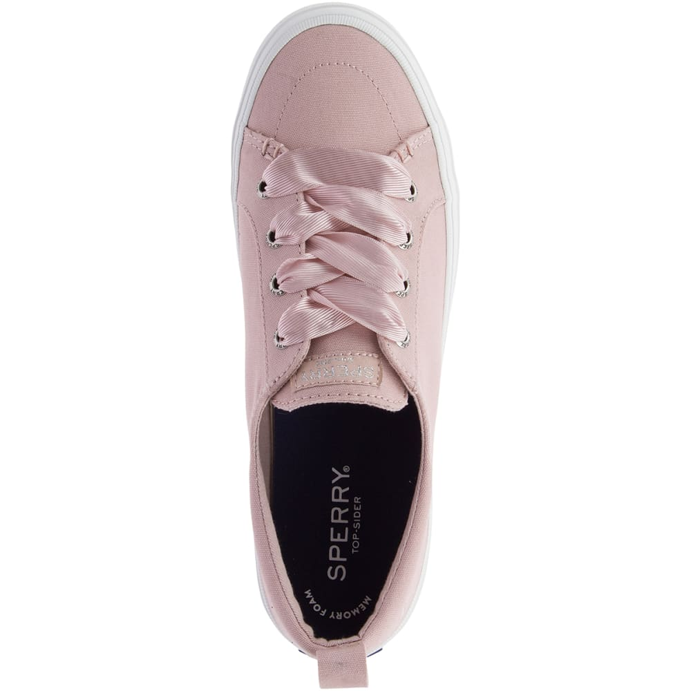 on feet shots of really cheap best website SPERRY Women's Crest Vibe Satin Lace Sneakers