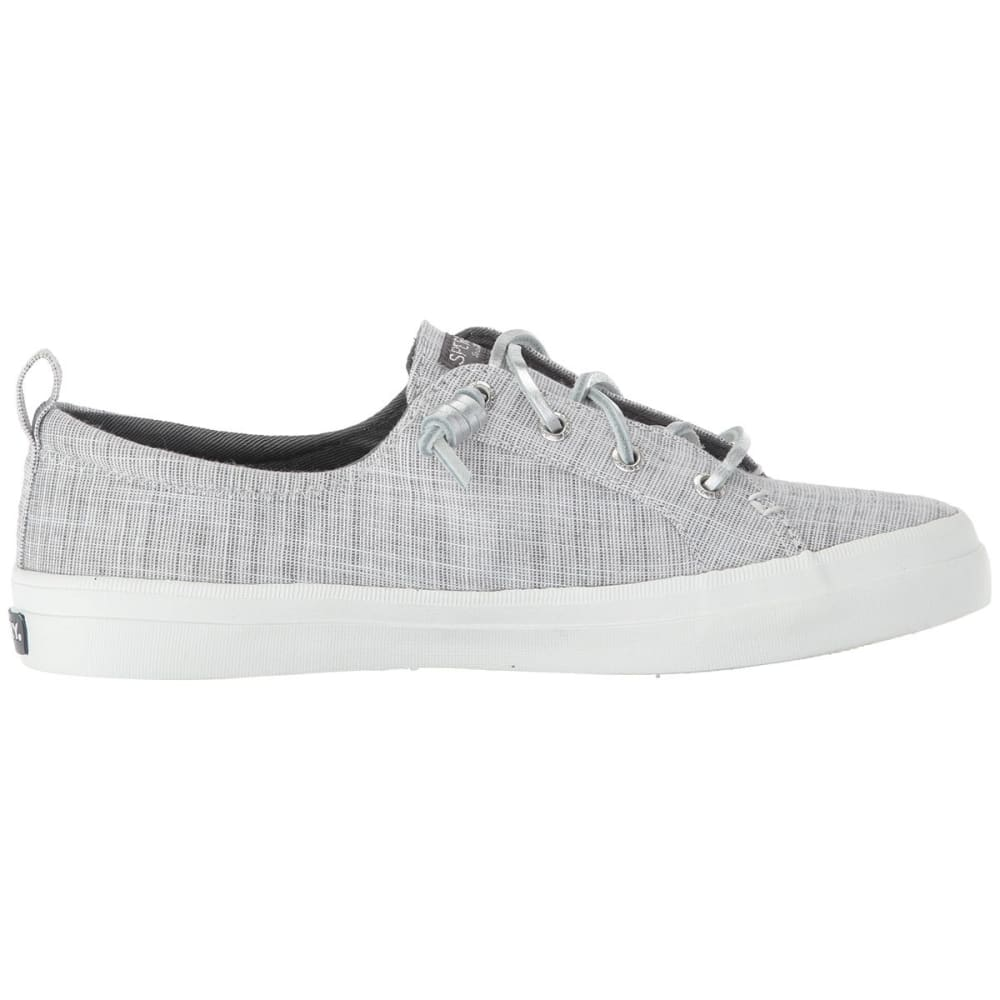 SPERRY Women's Crest Vibe Metallic Boat Shoes - SILVER