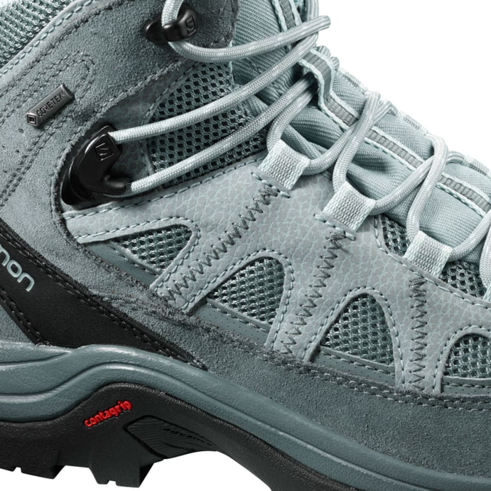 SALOMON Women's Authentic LTR GTX Waterproof Mid Hiking Boots - LEAD/STORMY WTHER