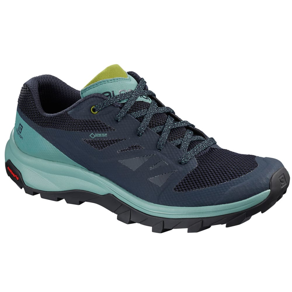 SALOMON Women's Outline GTX Waterproof Low Hiking Shoes - TRELLIS/NVY BLAZER/G
