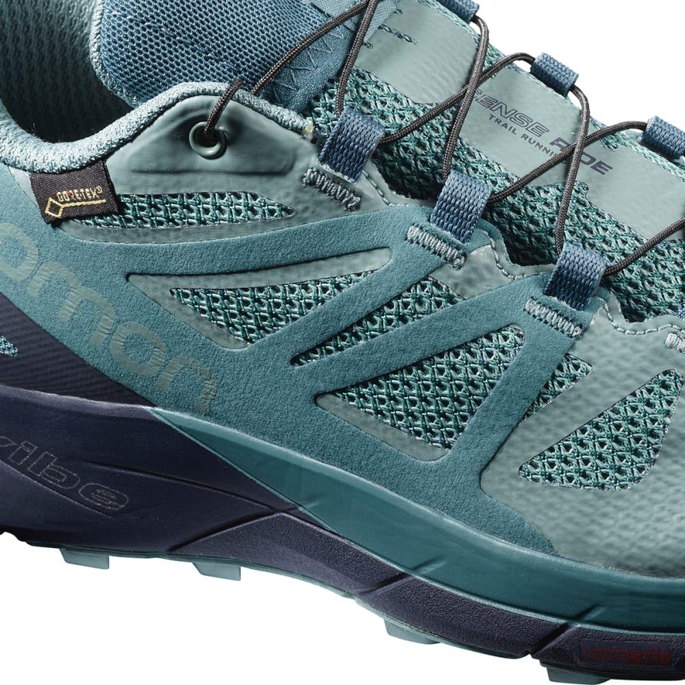 SALOMON Women's Sense Ride GTX Invisible Fit Waterproof Trail Running Shoes - TRELLIS/GRAPHITE