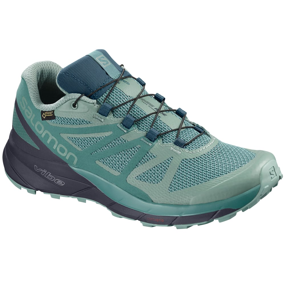 SALOMON Women's Sense Ride GTX Invisible Fit Waterproof Trail Running Shoes - TRELLIS/GRAPHITE
