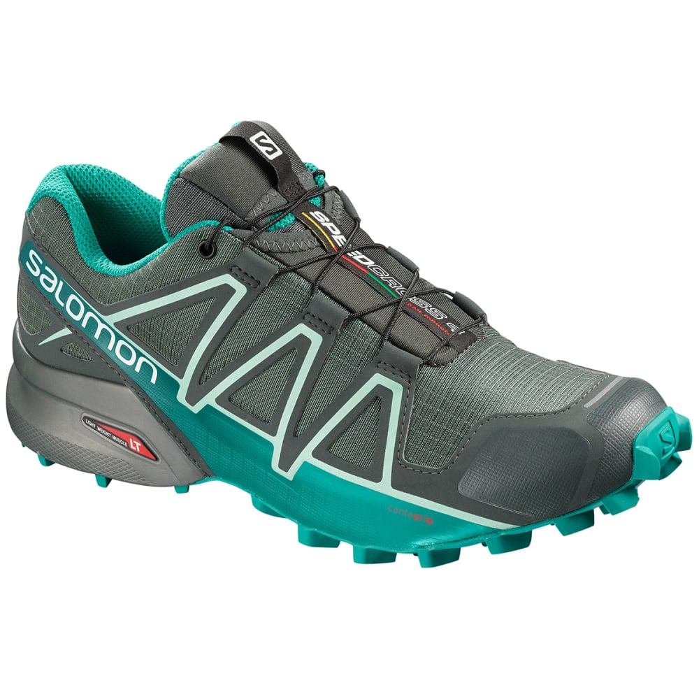 SALOMON Women's Speedcross 4 GTX Waterproof Trail Running Shoes - BALSAM GREEN/TROPICA