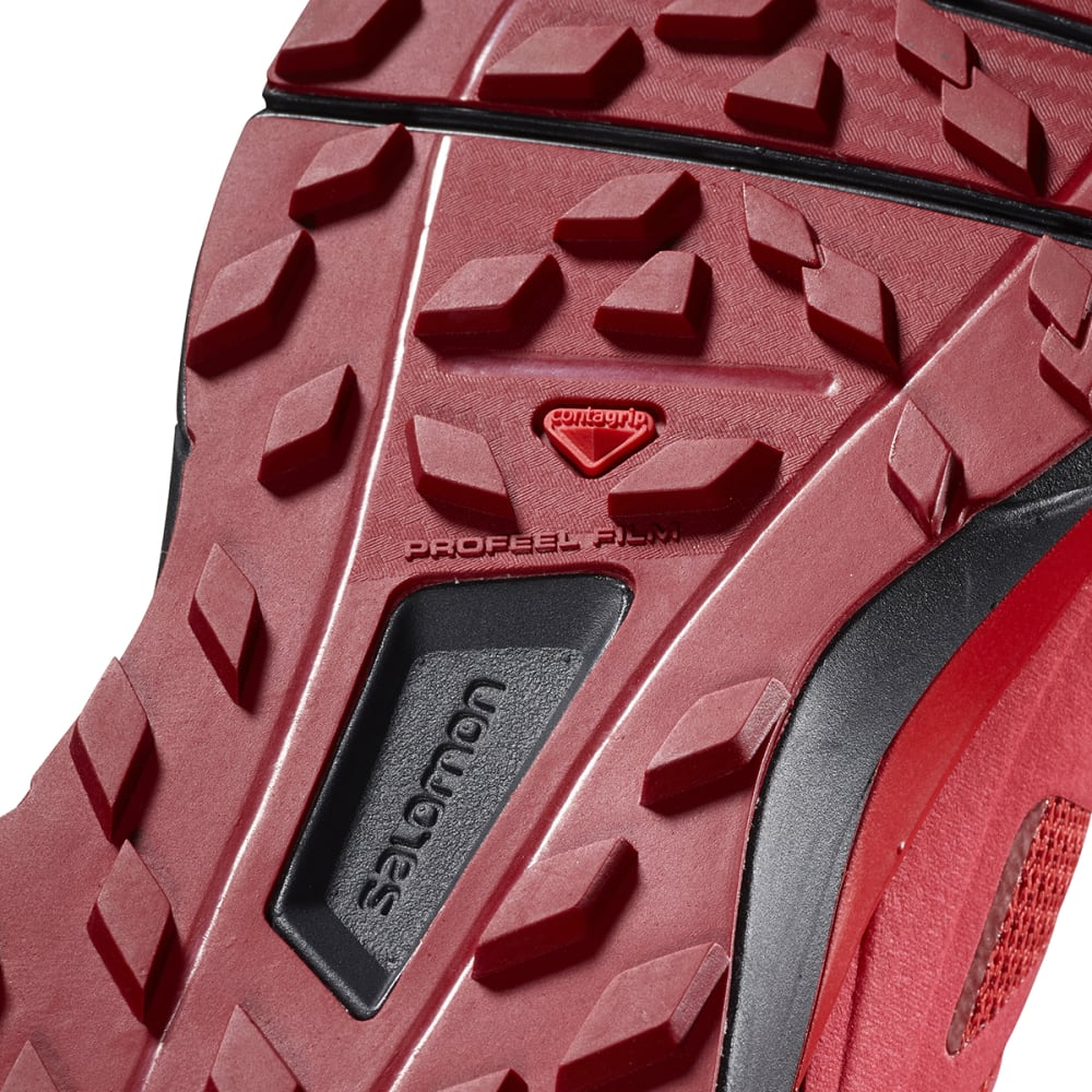 SALOMON Men's Sense Ride GTX Invisible Fit Waterproof Trail Running Shoes - RED DAHLIA/PHANTOM