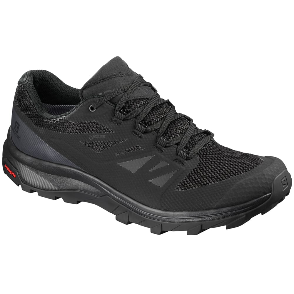 SALOMON Men's Outline Low GTX Waterproof Hiking Shoes - BLACK