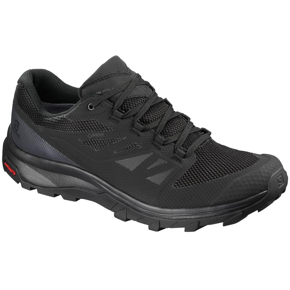 SALOMON Men's Outline Low GTX Waterproof Hiking Shoes - BLACK