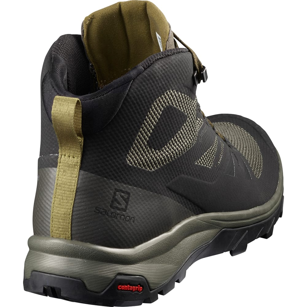SALOMON Men's Outline Mid GTX Waterproof Hiking Boots - BLACK
