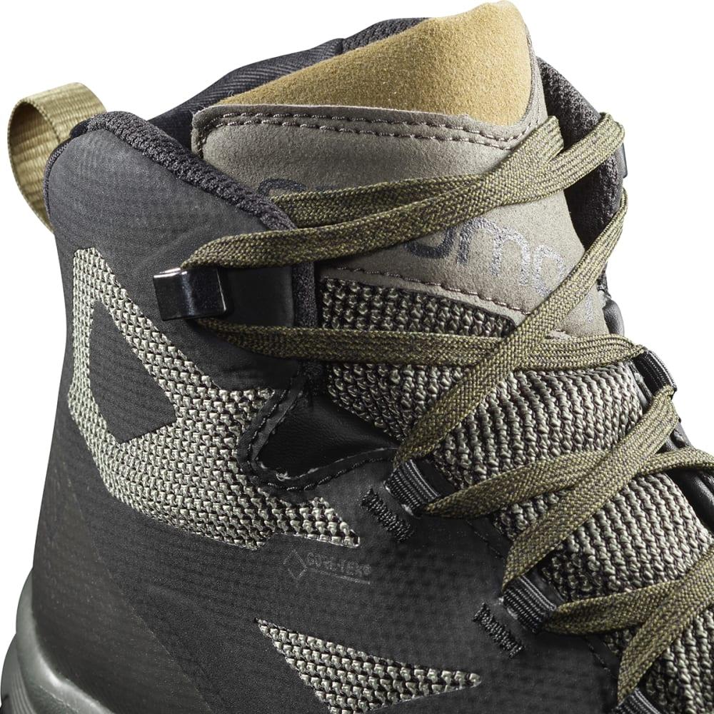 SALOMON Men's Outline Mid GTX Waterproof Hiking Boots - BLACK