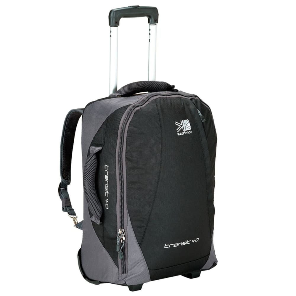 KARRIMOR Transit 40L Wheeled Suitcase - BLACK