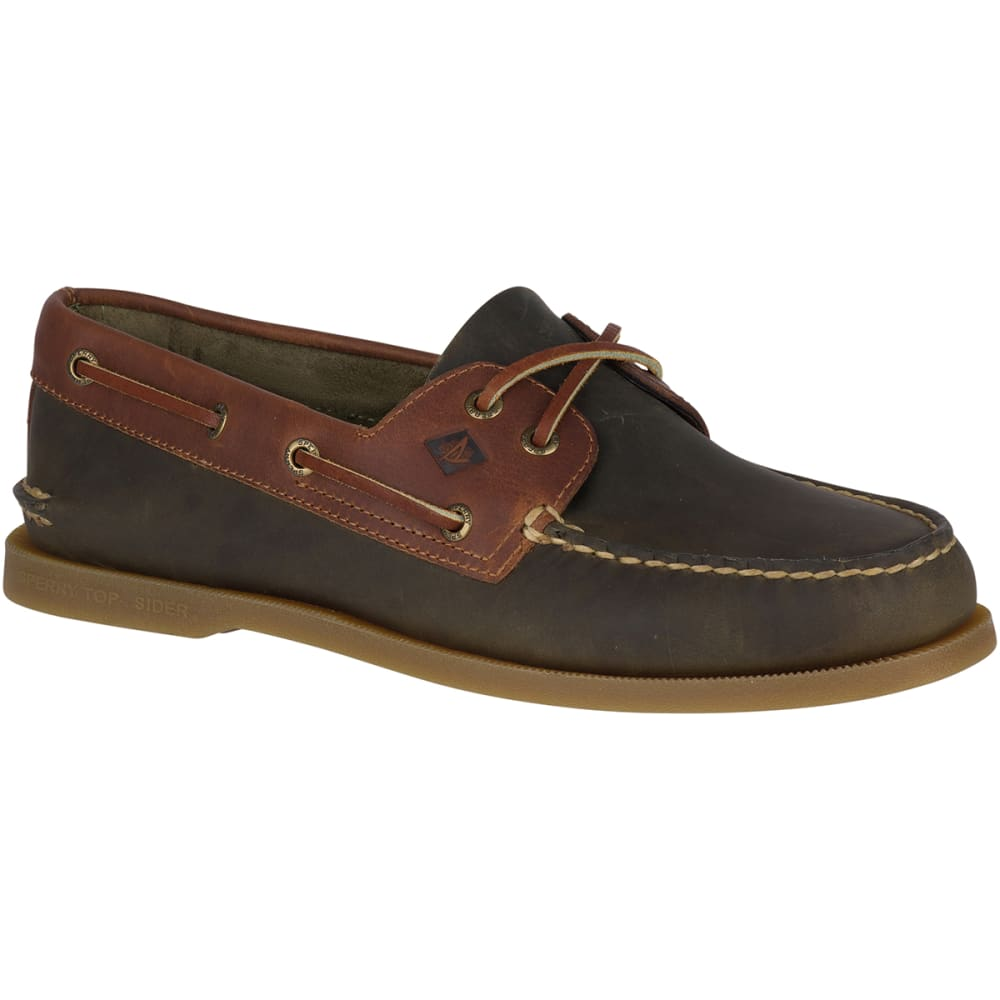 SPERRY Men's Authentic Original Richtown Boat Shoes - OLIVE/TAN -STS18313