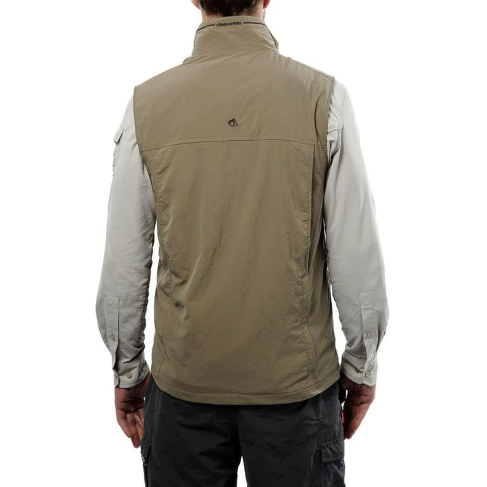 CRAGHOPPERS Men's NosiLife Adventure Vest - PEBBLE-62A
