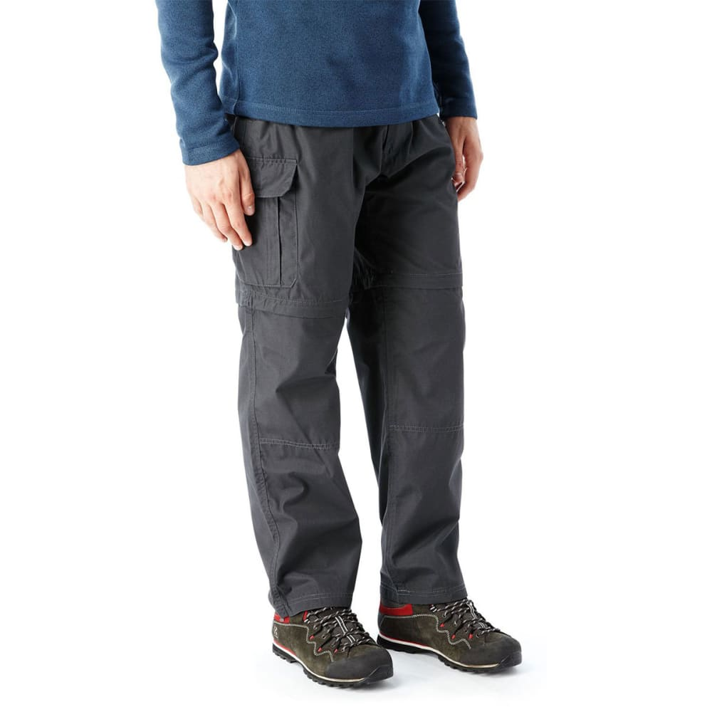 CRAGHOPPERS Men's NosiDefence Kiwi Convertible Pants - BLACK PEPPER-7J8