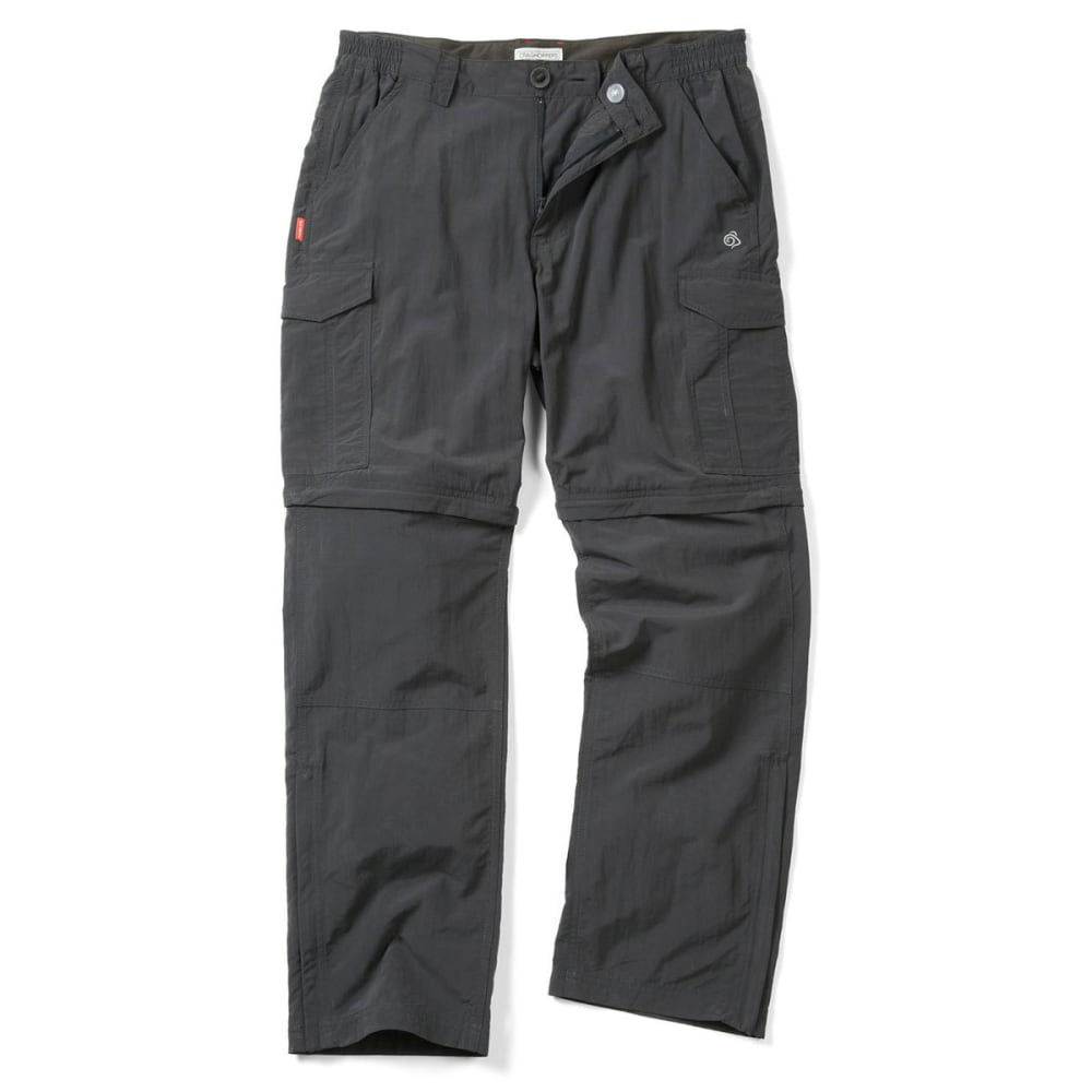 CRAGHOPPERS Men's NosiLife Convertible Pants - BLACK PEPPER-7J8