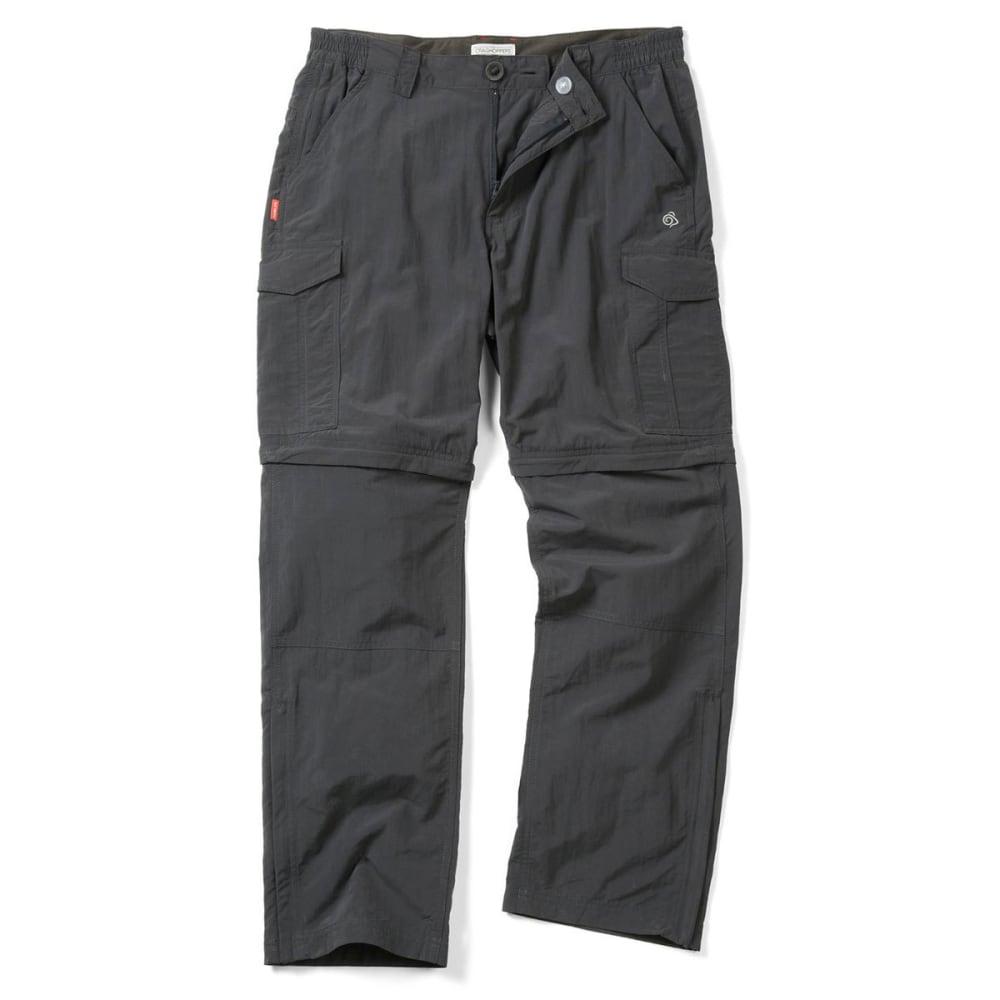 CRAGHOPPERS Men's NosiLife Convertible Pants - BLACK PEPPER-7J8