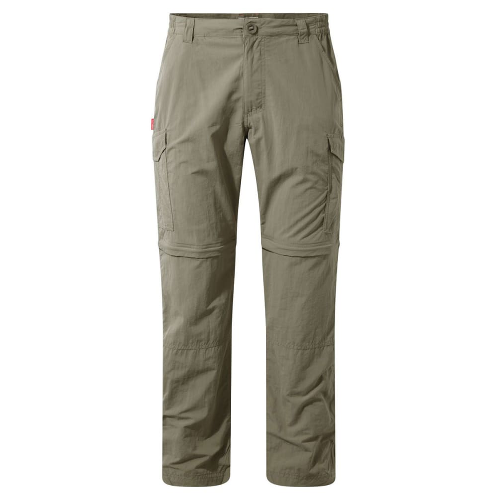 CRAGHOPPERS Men's NosiLife Convertible Pants - PEBBLE-62A