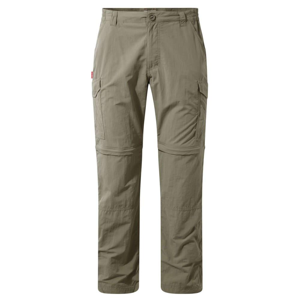 CRAGHOPPERS Men's NosiLife Convertible Pants - PEBBLE-62A