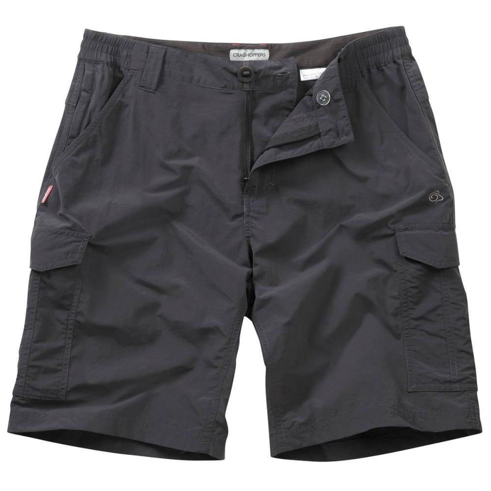 CRAGHOPPERS Men's NosiLife Cargo Shorts - BLACK PEPPER-7J8
