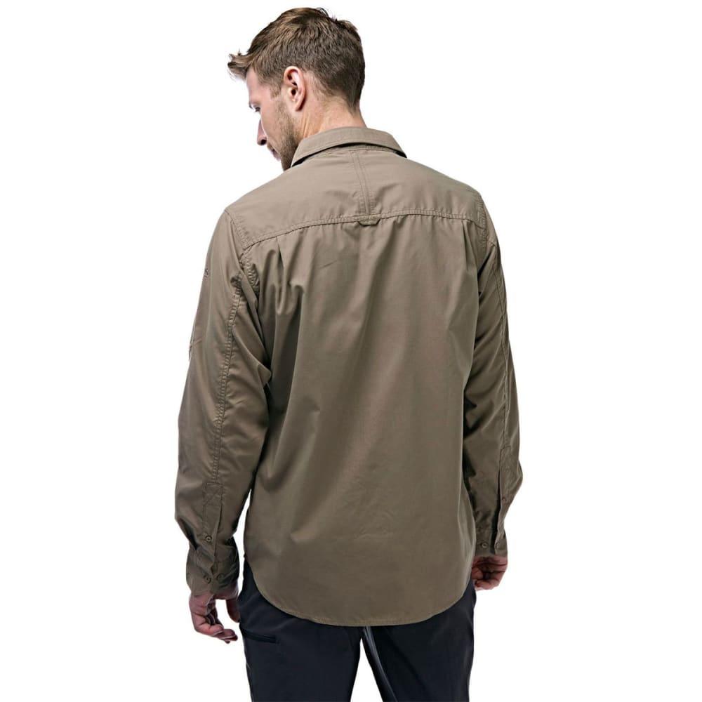CRAGHOPPERS Men's NosiDefence  Kiwi Long Sleeve Shirt - PEBBLE-62A