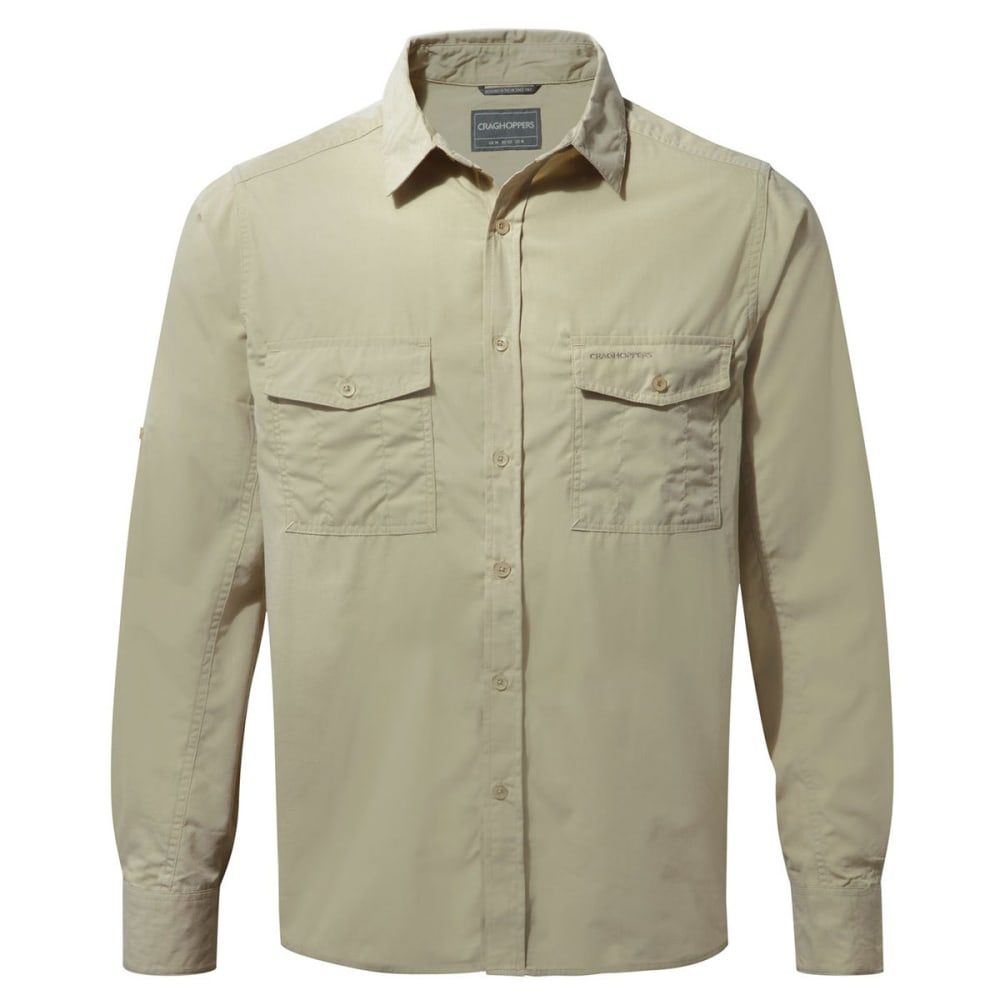 CRAGHOPPERS Men's NosiDefence  Kiwi Long Sleeve Shirt - OATMEAL-70U