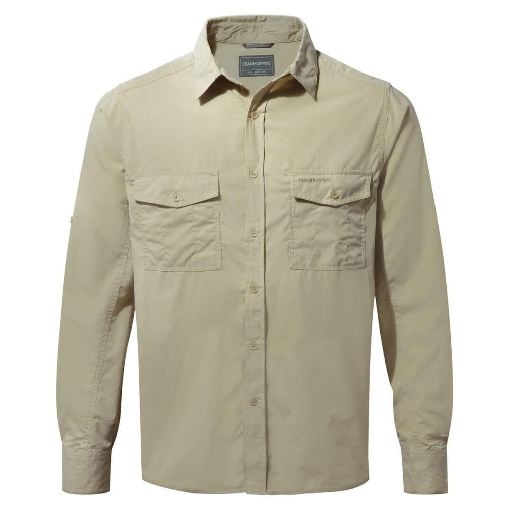 CRAGHOPPERS Men's NosiDefence  Kiwi Long Sleeve Shirt - OATMEAL-70U