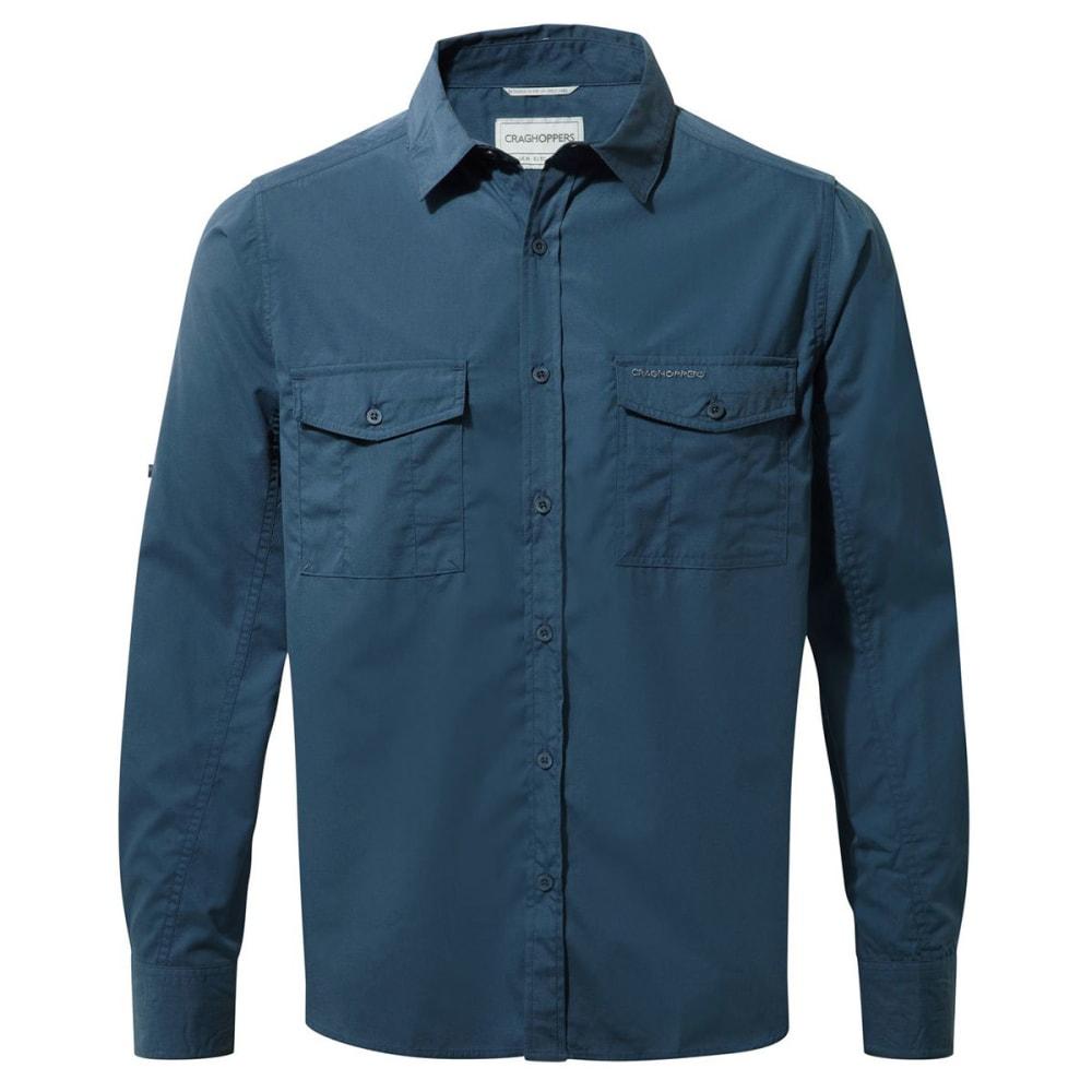 CRAGHOPPERS Men's NosiDefence  Kiwi Long Sleeve Shirt - FADED INDIGO-1VE