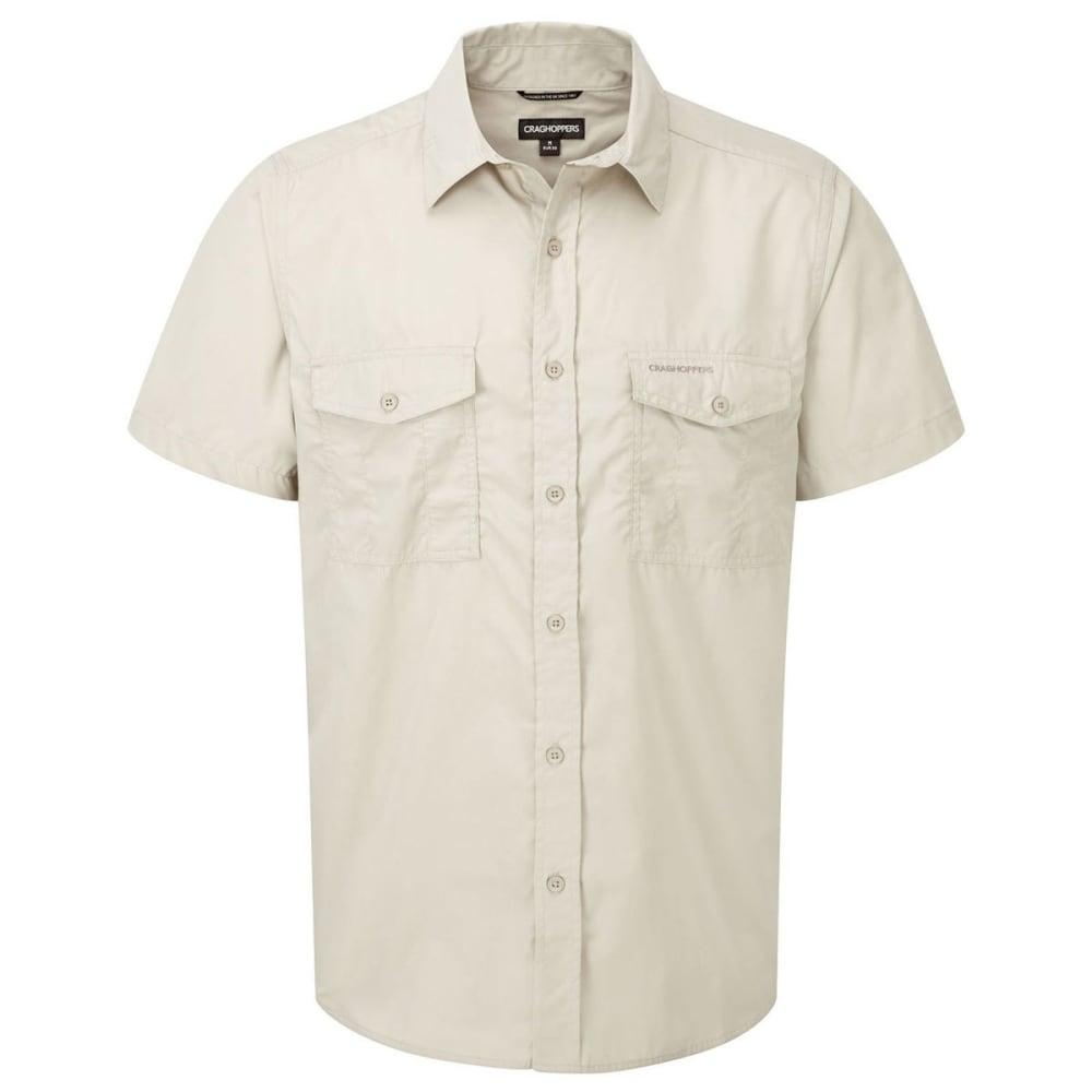 CRAGHOPPERS Men's NosiDefence Kiwi Short Sleeve Shirt - OATMEAL-70U