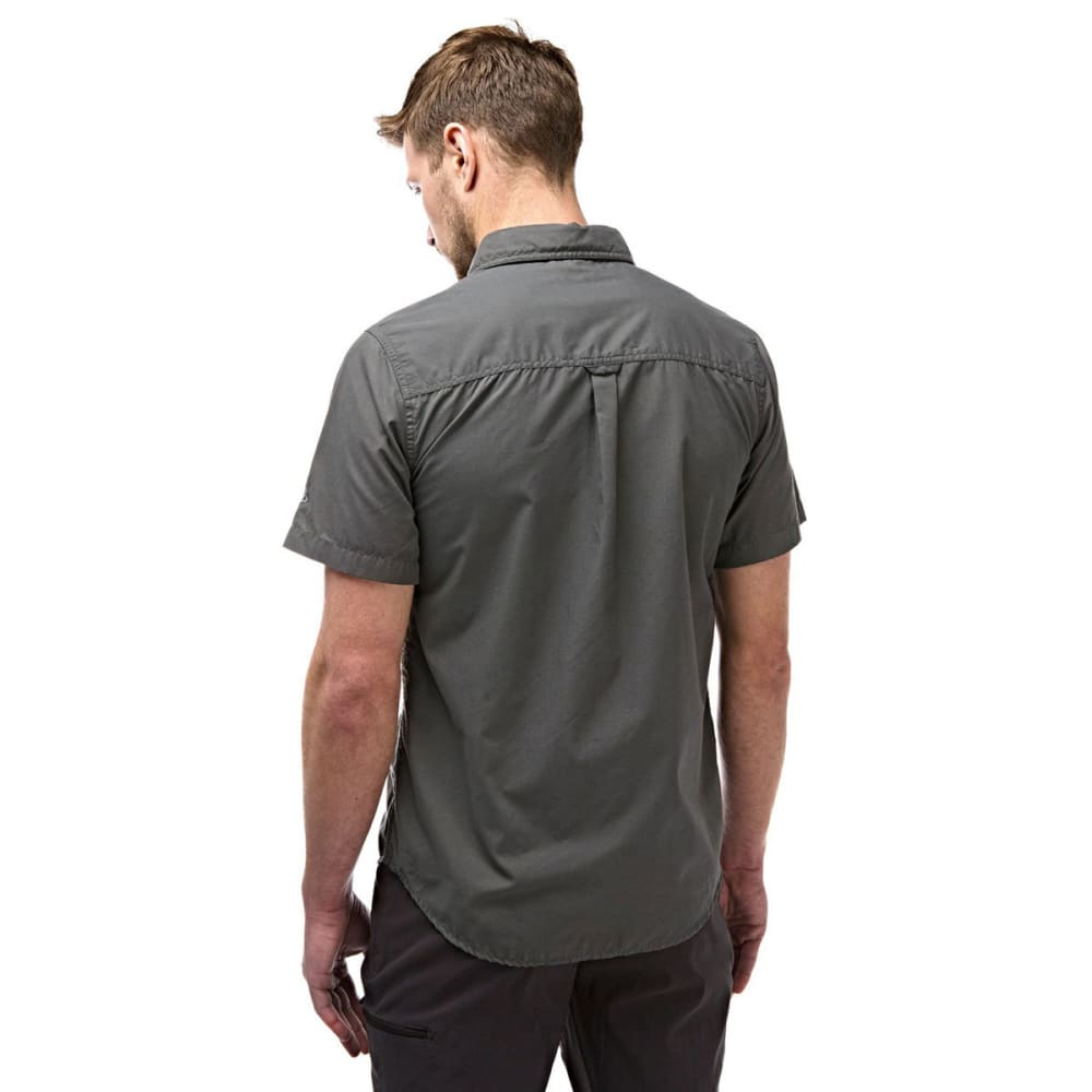 CRAGHOPPERS Men's NosiDefence Kiwi Trek Short Sleeve Shirt - ASHEN-08B