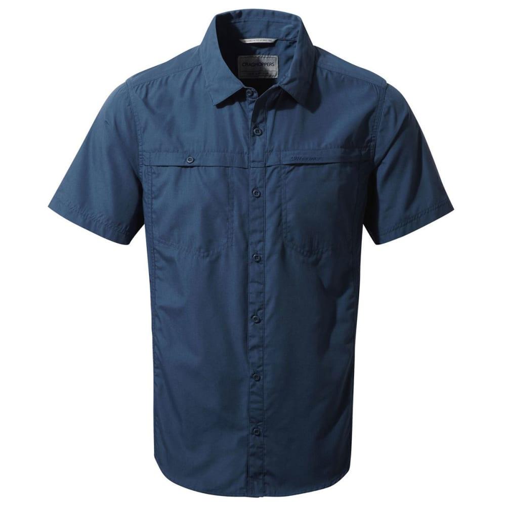 CRAGHOPPERS Men's NosiDefence Kiwi Trek Short Sleeve Shirt - VINTAGE INDIGO-3PI