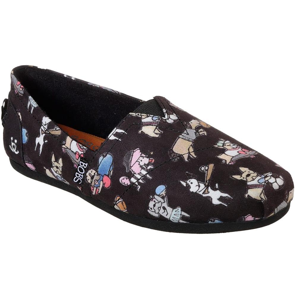 SKECHERS Women's Bobs Plush - Go Fetch Casual Slip-On Shoes - BLACK-BLK