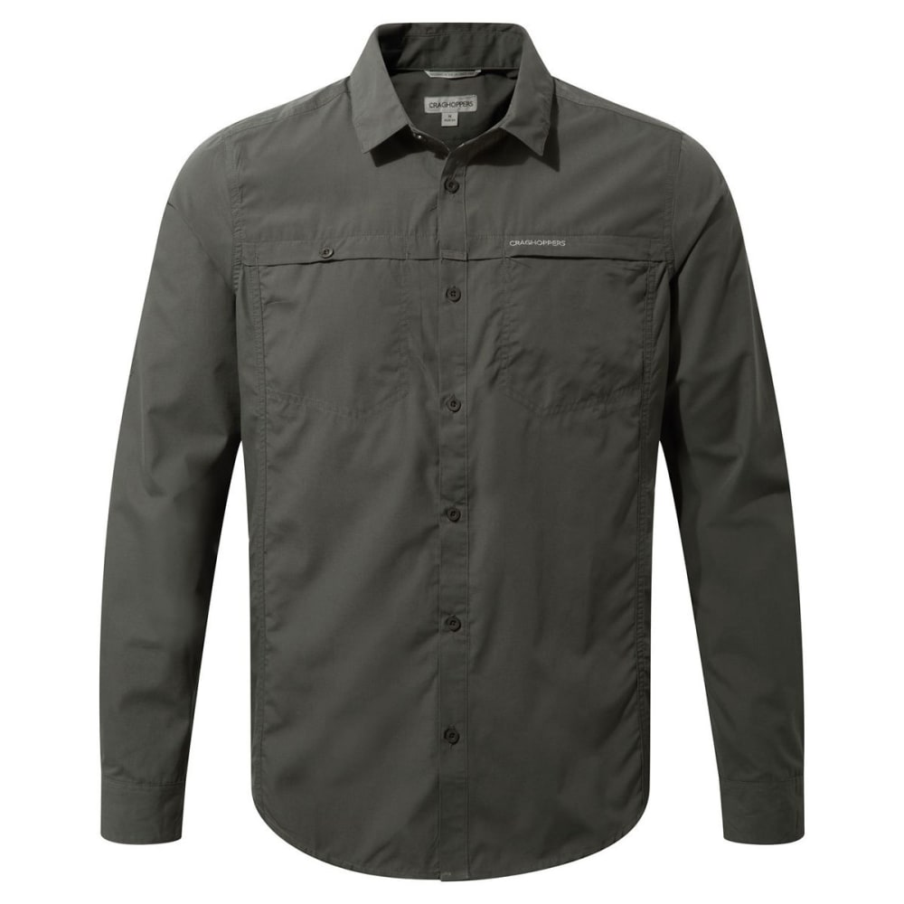 CRAGHOPPERS Men's NosiDefence Kiwi Trek Long Sleeve Shirt - ASHEN-08B