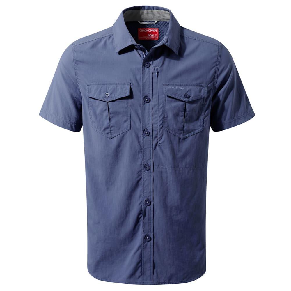 CRAGHOPPERS Men's NosiLife Adventure Short Sleeve Shirt - DUSK BLUE-1W8