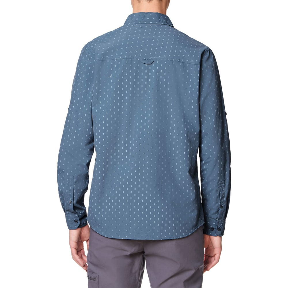 CRAGHOPPERS Men's NosiLife Barmera Long-Sleeve Check Shirt - OCEAN BLUE PRINT-4DD