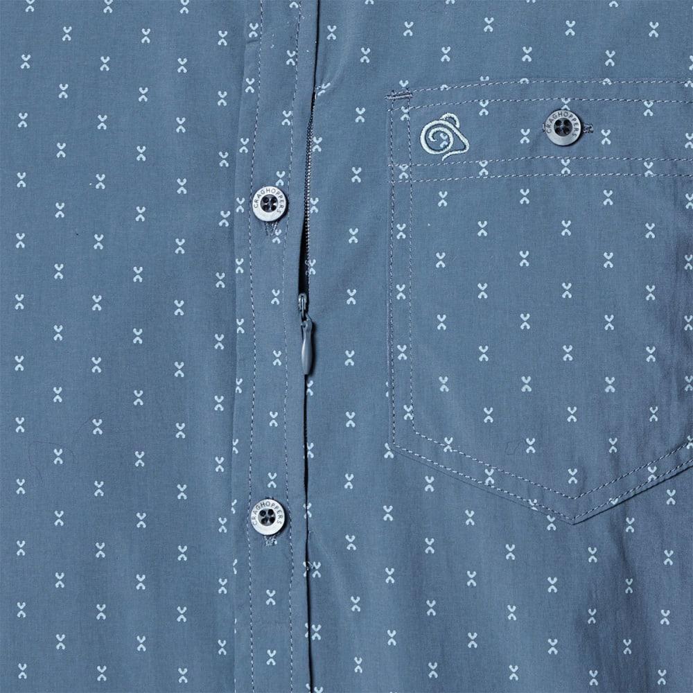 CRAGHOPPERS Men's NosiLife Barmera Long-Sleeve Check Shirt - OCEAN BLUE PRINT-4DD
