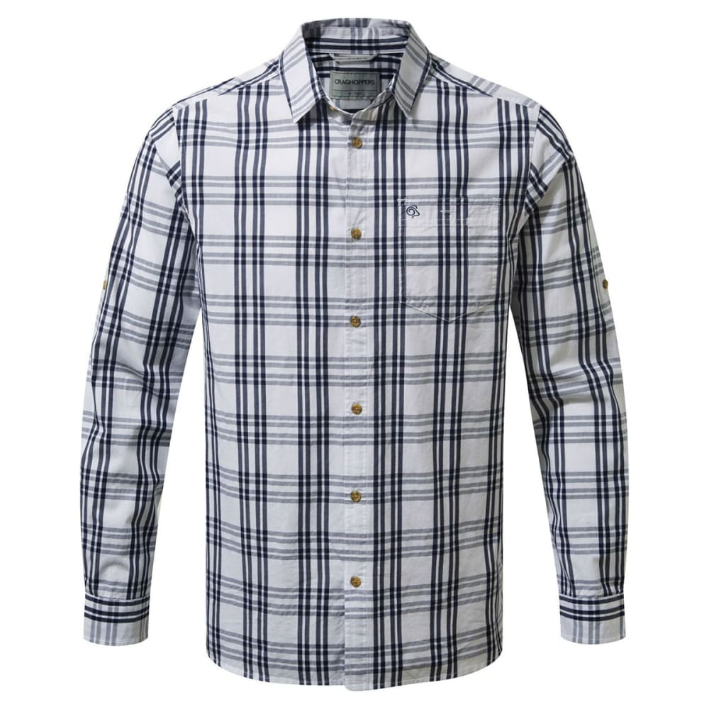 CRAGHOPPERS Men's NosiDefence Blayney Long Sleeve Check Shirt - BLUE NAVY-7V1